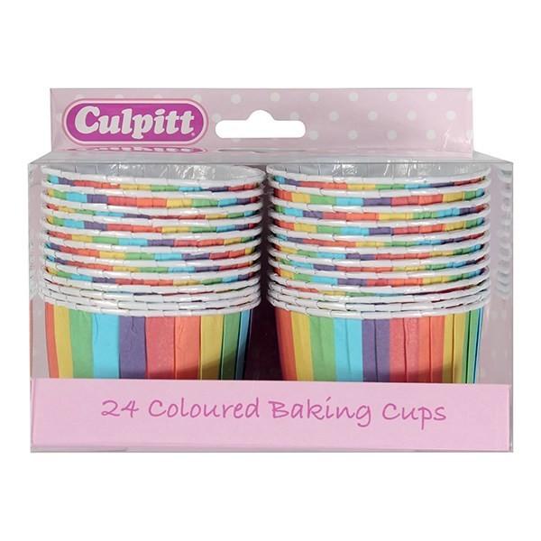 Culpitt Cupcake Baking Cups -RAINBOW -Κυπελάκια Ψησίματος Ουράνιο Τόξο 24 τεμ