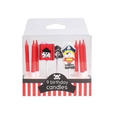 SALE!!! Baked With Love Candles -PIRATE Κεράκια Πειρατές 9 τεμ