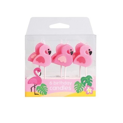 Baked With Love Candles -FLAMINGO -Κεράκια φλαμίνγκο 6 τεμ