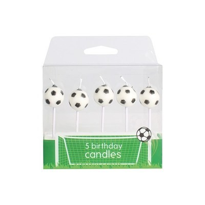 Baked With Love Candles -FOOTBALL -Κεράκια μπάλα ποδοσφαίρου 5 τεμ