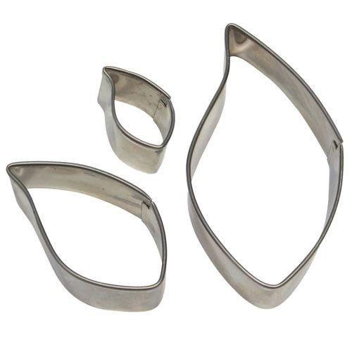 PME Basics -Set of 3 -LEAF Cutters -Σετ 3τεμ Βασική Σειρά Κουπ πατ Φύλλα