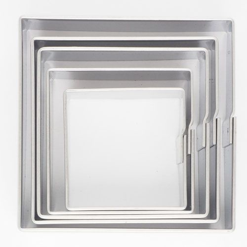 SALE!!! Cookie Cutter -Geometric Set 0f 5 -SQUARE - Σετ 5 τεμ κουπ πατ Τετράγωνα