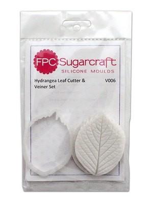 FPC Cutter & Veiner Set -HYDRANGEA LEAF - Κουπ πατ και Πατάκι με ραβδώσεις Φύλλο Ορτανσίας