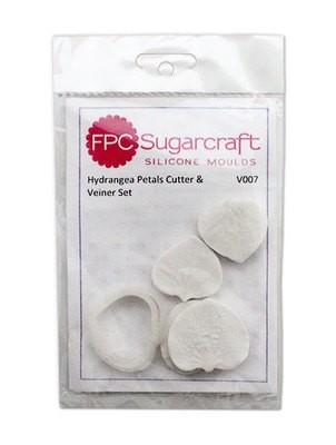 FPC Cutter & Veiner Set -HYDRANGEA PETAL - Κουπ πατ και πατάκι με ραβδώσεις Πέταλα Ορτανσίας