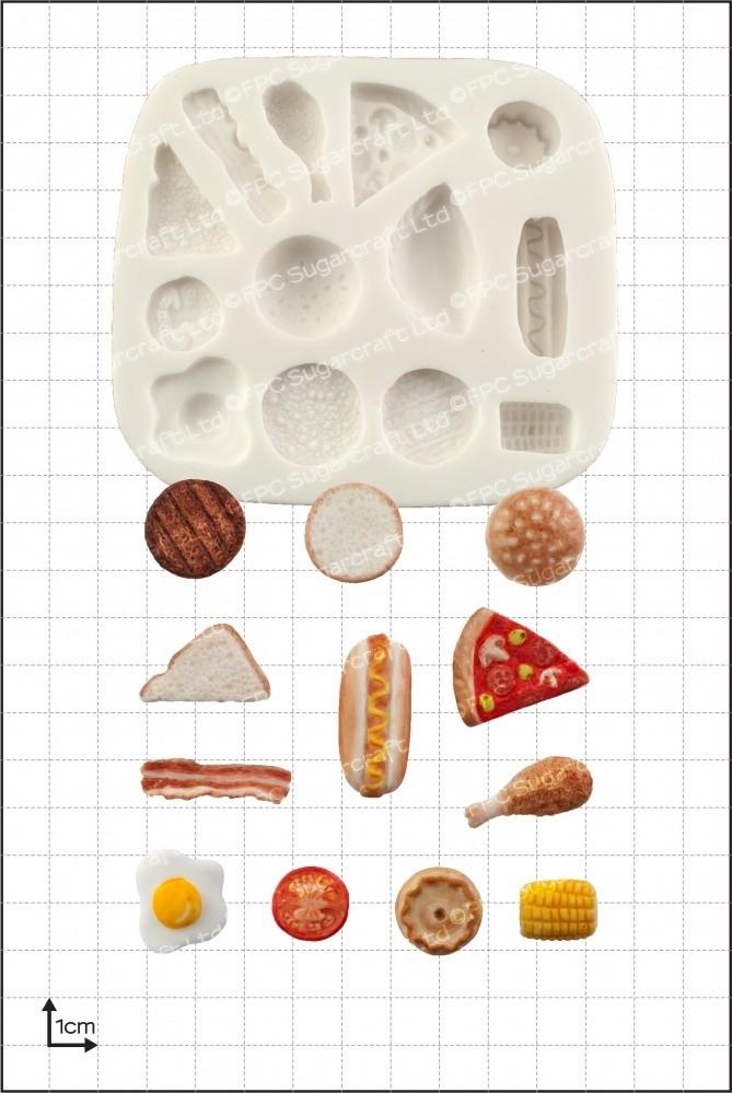 FPC Silicone Mould -MINIATURE FOOD - Καλούπι φαγητά μινιατούρες