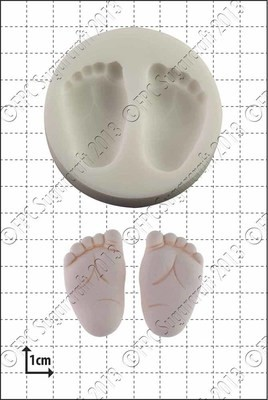 FPC Silicone Mould -BABY FEET -Καλούπι Πατουσάκια Μωρού