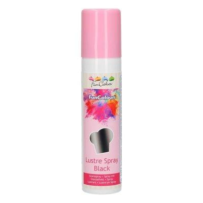 FunCakes Edible Spray -METALLIC BLACK 100ml - Σπρέι Μεταλλικό Μαύρο