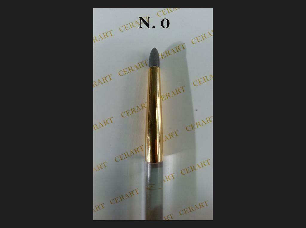 Cerart Round Tip Silicone Brush no.0 -Πινέλο σιλικόνης γκρι σκούρο, Νo. 0