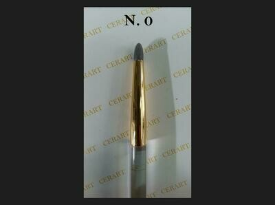 SALE!!! Cerart Round Tip Silicone Brush no.0 -Πινέλο σιλικόνης γκρι σκούρο, Νo. 0