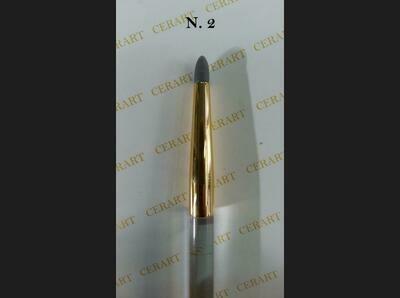 SALE!!! Cerart Round Tip Silicone Brush no.2 - Πινέλο σιλικόνης γκρι σκούρο, Νo. 2