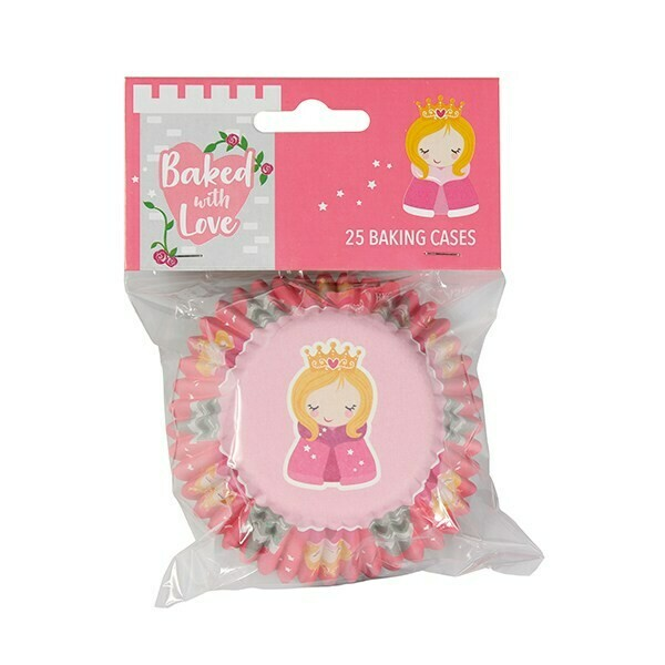 SALE!!! Baked With Love Baking Cases -PRINCESS - Θήκες ψησίματος Πριγκίπισσα 25 τεμ