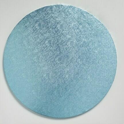 "Cake Drum Round -LIGHT BLUE 30cm (12"") - Μπλε Ανοιχτό Στρογγυλή Βάση 30εκ -Πάχος 1,3εκ"