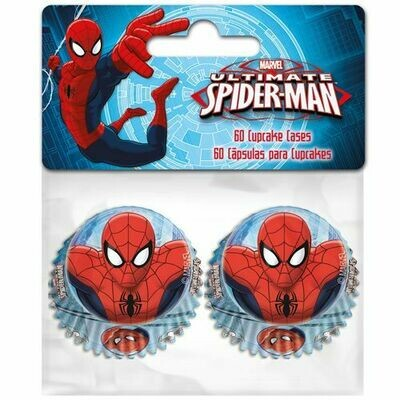 Mini Baking Cases -SPIDERMAN Μίνι Θήκες Ψησίματος 60 τεμ ∞