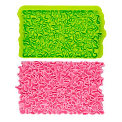 Marvelous Molds SIMPRESS Embossing Mat -SCRUNCH RUFFLE - Πατάκι Σιλικόνης  - Τσαλακωμένη Σούφρα