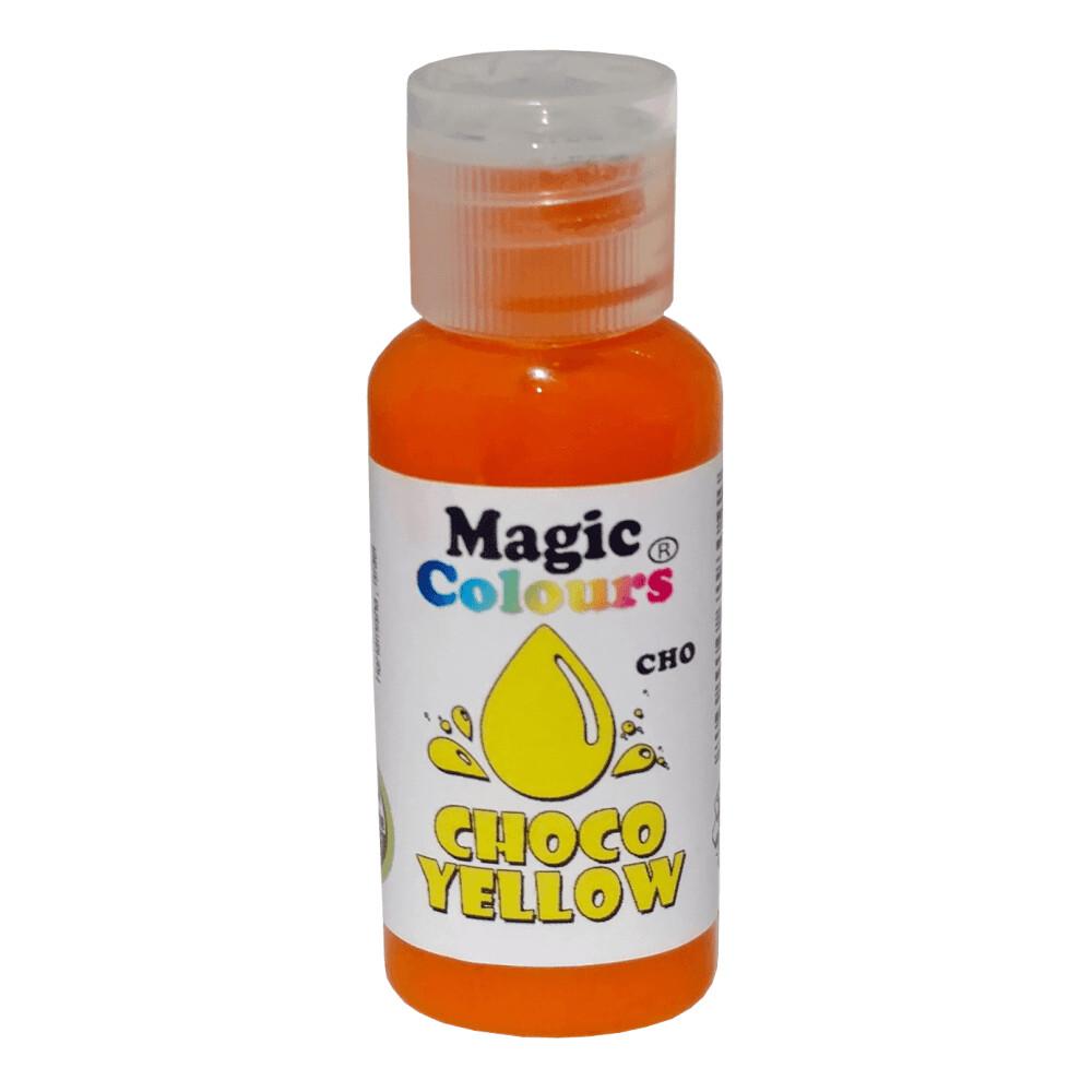 Magic Colours Gel Chocolate Colour -YELLOW 32g - Χρώμα σοκολάτας Κίτρινο