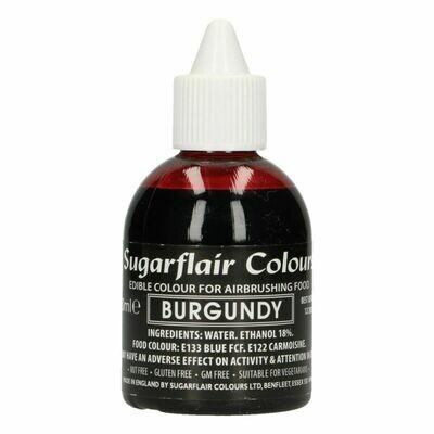 Sugarflair Airbrush Colour -MATT BURGUNDY -Χρώμα Αερογράφου ματ -Μπορντώ 60ml