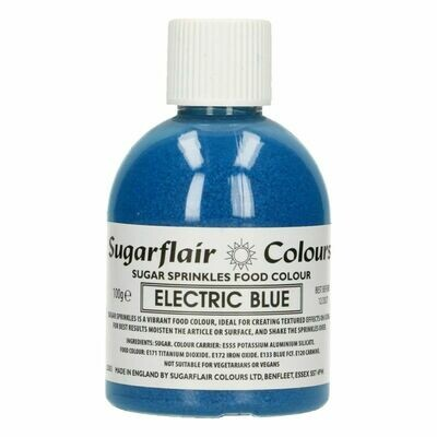 Sugarflair -Sparkling Sugar Sprinkles -ELECTRIC BLUE 100g - Χρωματιστή Ζάχαρη - Μπλε Ηλεκτρίκ