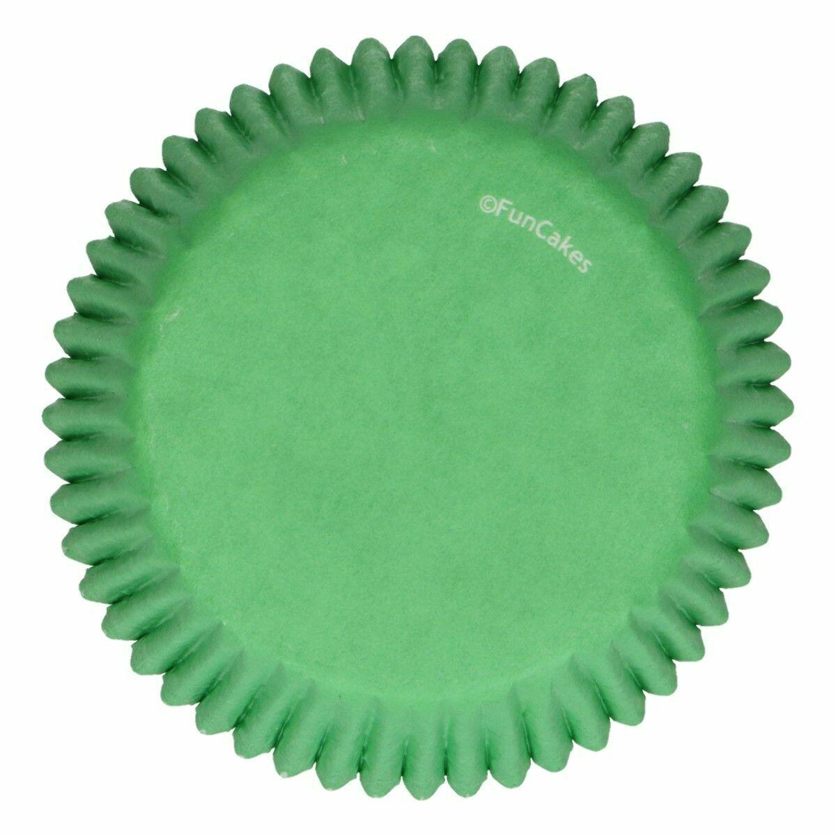 FunCakes Cupcake Cases -GRASS GREEN -Θήκες Ψησίματος -Πράσινο Γρασίδι -48 τεμ
