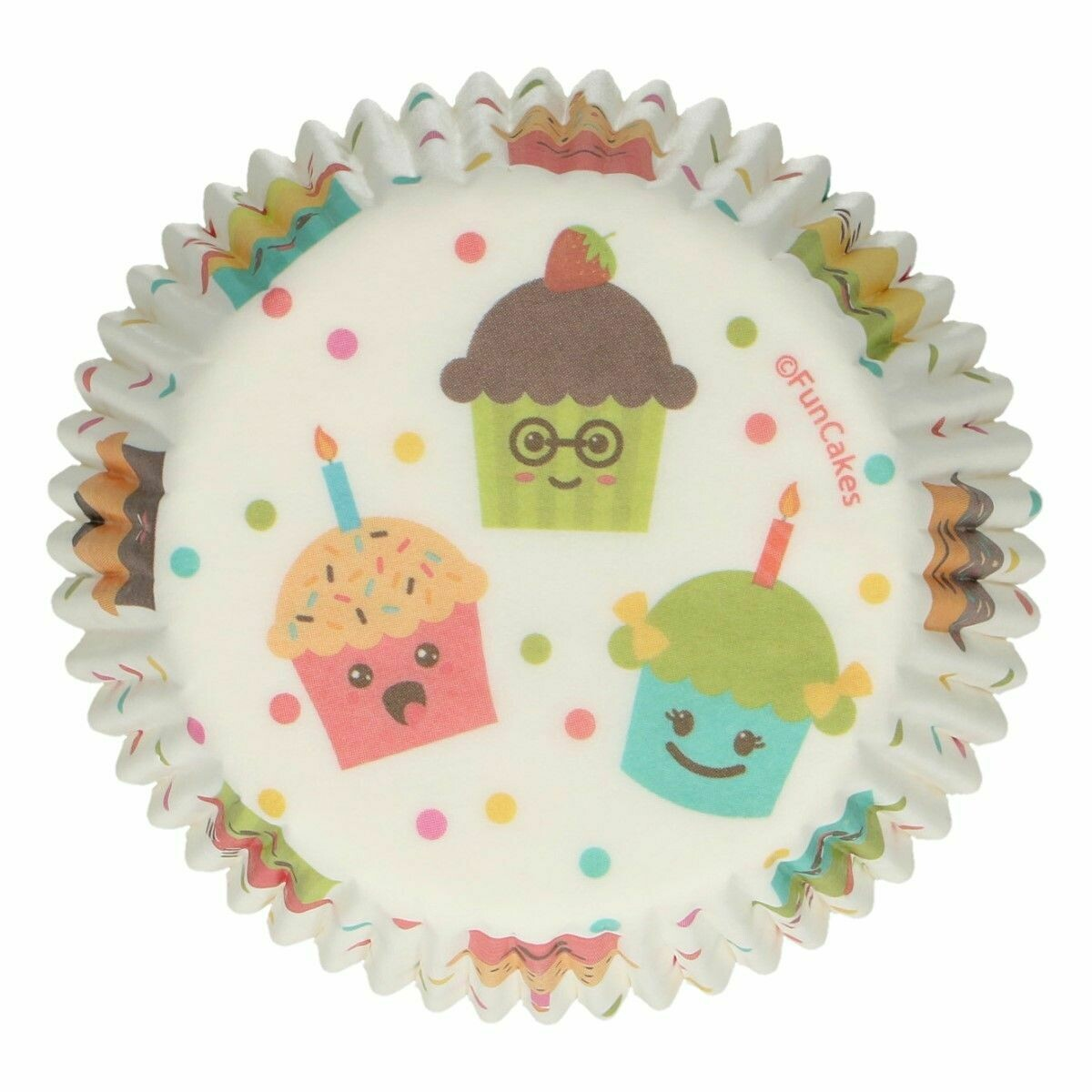 SALE!!! FunCakes Cupcake Cases -CUPCAKE PARTY -Θήκες Ψησίματος -48 τεμ