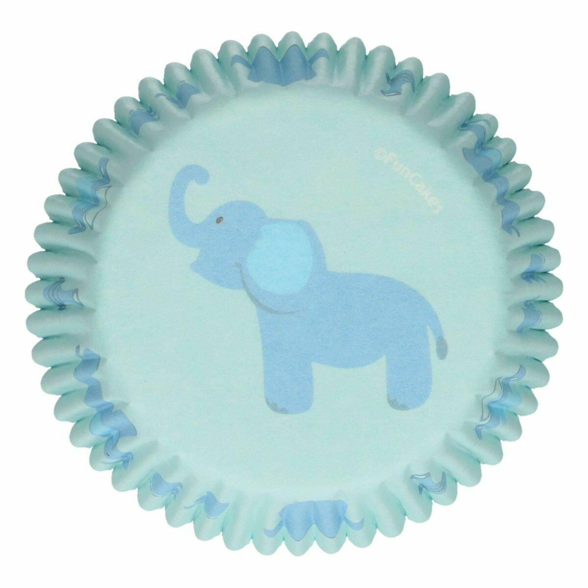 SALE!!! FunCakes Cupcake Cases -BABY ΒΟΥ -Θήκες Ψησίματος -Αγορίστικο Σχέδιο -48 τεμ