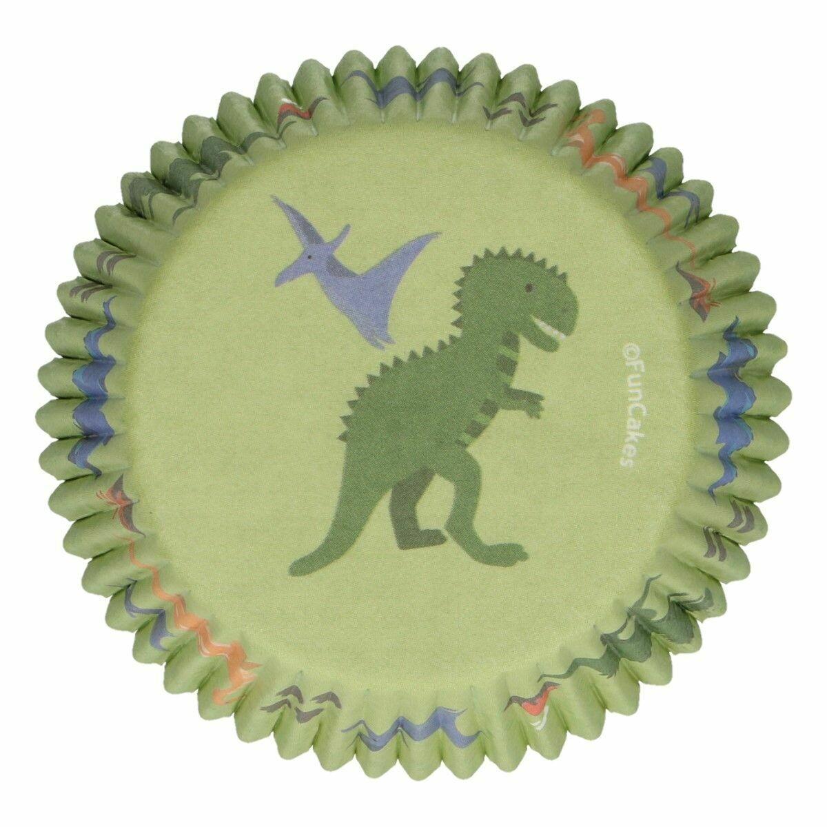 SALE!!! FunCakes Cupcake Cases -DINO -Θήκες Ψησίματος -Δεινόσαυρος -48 τεμ