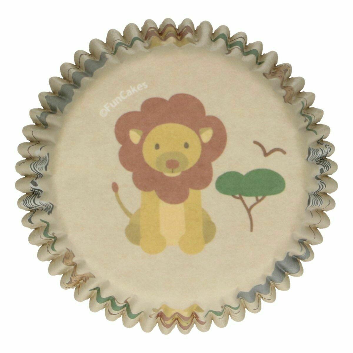 FunCakes Cupcake Cases -SAFARI ANIMALS -Θήκες Ψησίματος Ζώα Σαφάρι 48 τεμ