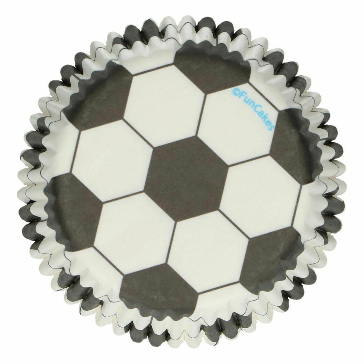 FunCakes Cupcake Cases -SOCCER/FOOTBALL -Θήκες Ψησίματος  Ποδόσφαιρο 48 τεμ