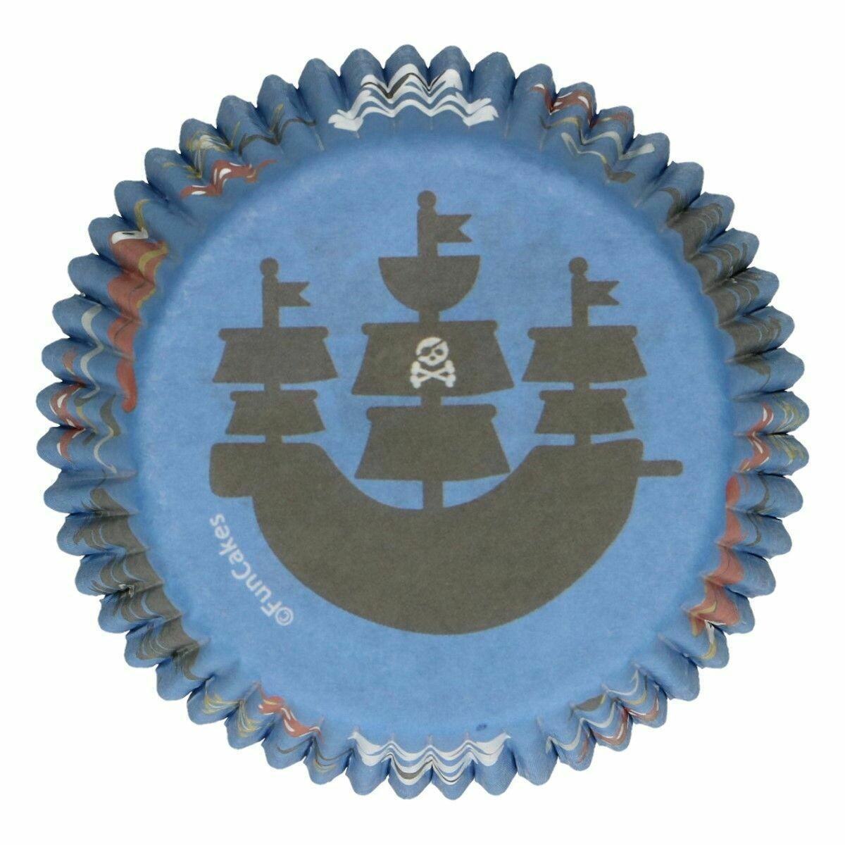 SALE!!! FunCakes Cupcake Cases -PIRATES -Θήκες Ψησίματος 48 τεμ - Πειρατικό θέμα