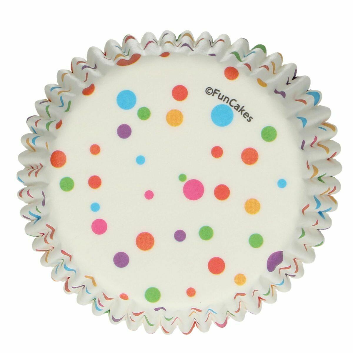 SALE!!! FunCakes Cupcake Cases -CONFETTI -Θήκες Ψησίματος 48 τεμ