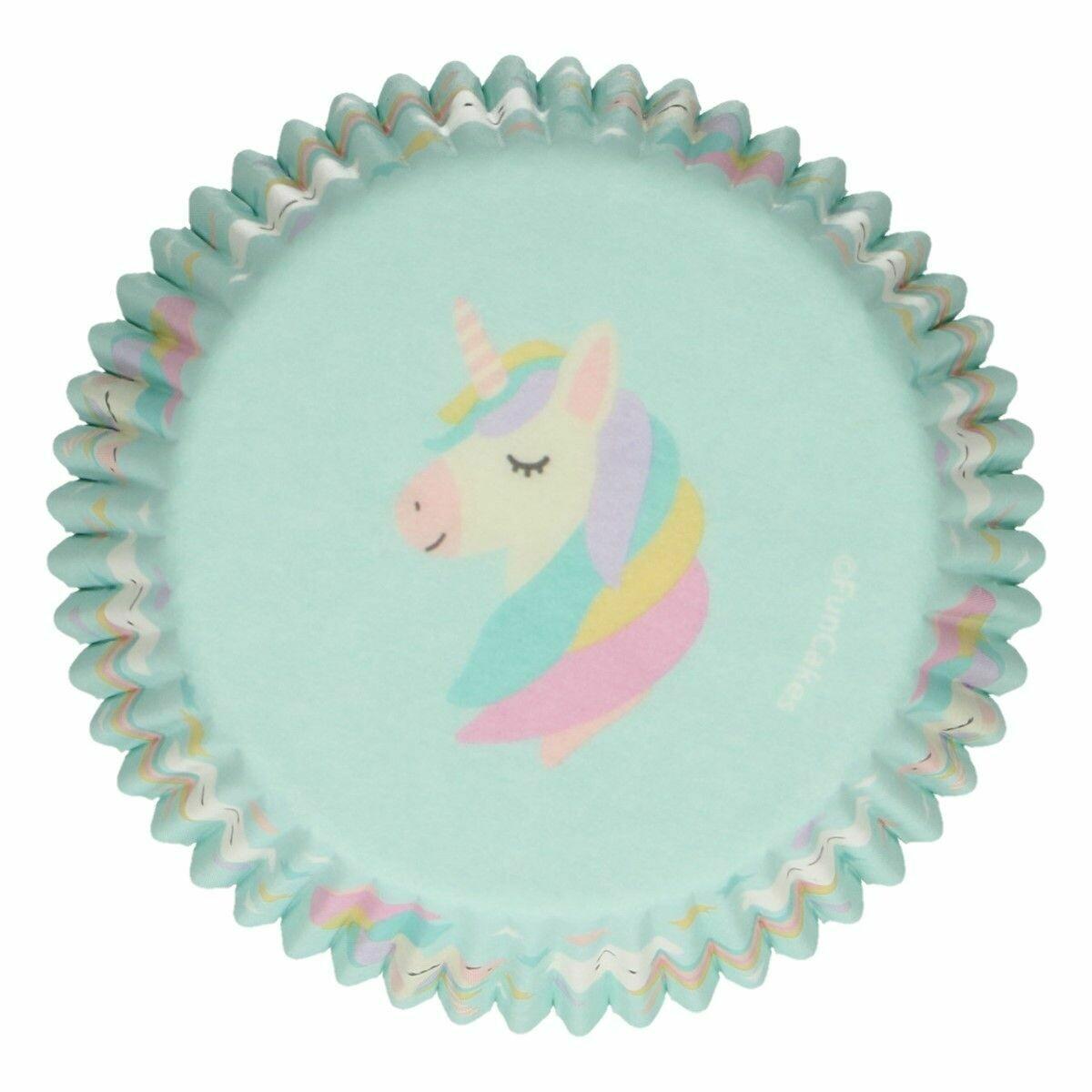 FunCakes Cupcake Cases -UNICORN -Θήκες Ψησίματος Μονόκερος 48 τεμ
