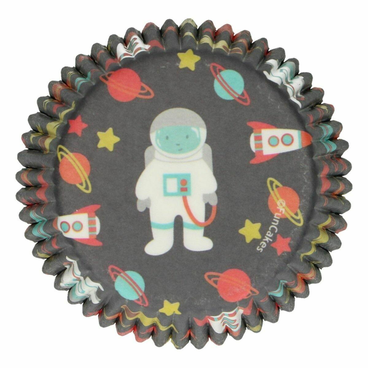 FunCakes Cupcake Cases -SPACE - Θήκες Ψησίματος Διάστημα 48 τεμ