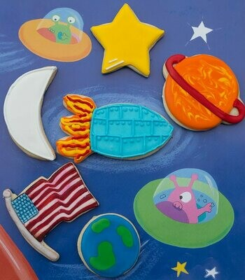 By AH -Set of 6 Cookie Cutters -SPACE -Σετ 6 τεμ κουπ πατ με θέμα το Διάστημα