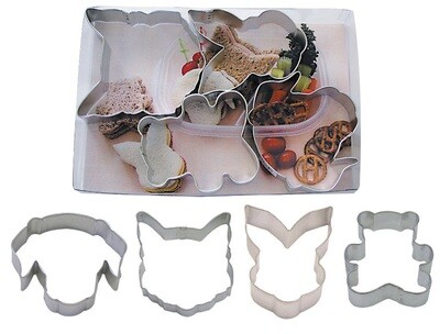 SALE!!! By AH -Set of 4 Cookie Cutters -ANIMAL CHUMS -Σετ 4 Κουπ πατ με Ζώα