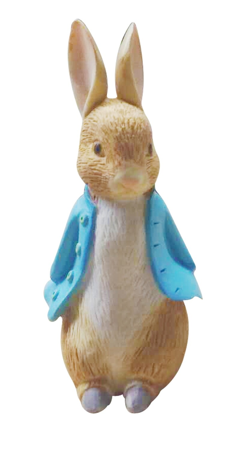 SALE!!! By AH -Cake Topper -PETER RABBIT made from resin - Topper ρητίνης