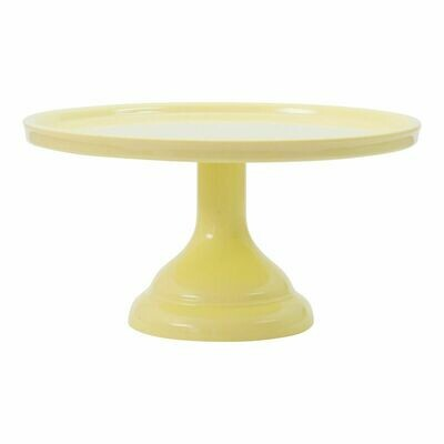 Melamine Cake Stand -SMALL YELLOW - Μικρή Βάση Για Τούρτα από Μελαμίνη - Κίτρινη 24εκ