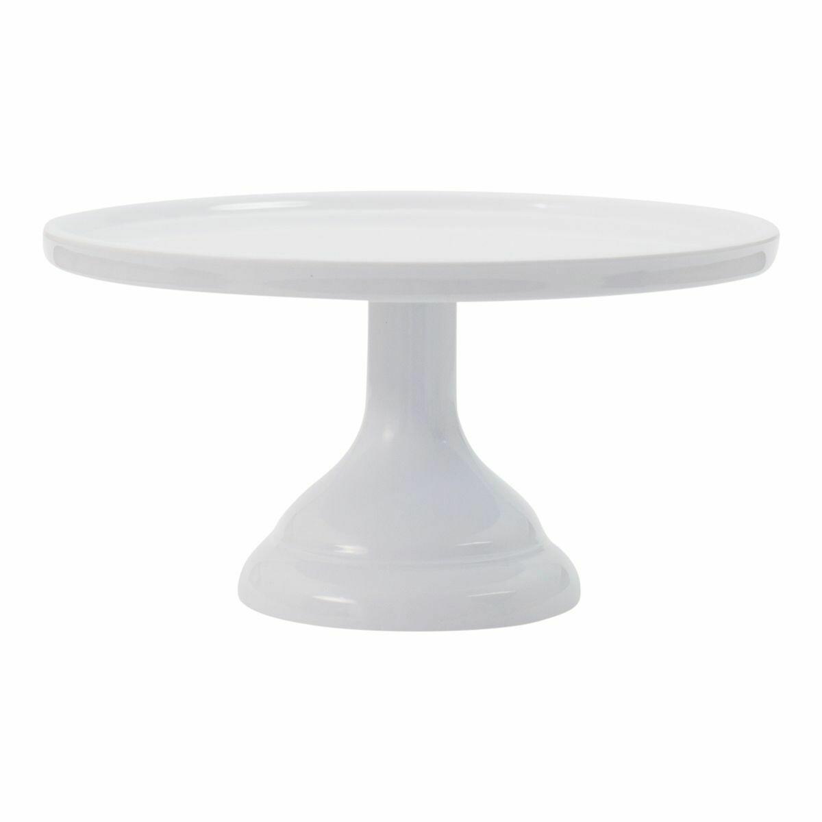 Melamine Cake Stand -SMALL WHITE - Μικρή Βάση Για Τούρτα από Μελαμίνη - Λευκή 24εκ