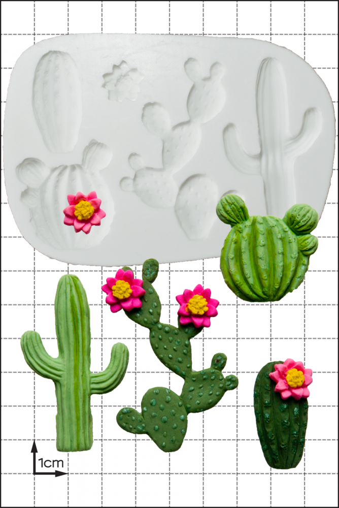 FPC Silicone Mould -CACTUS -Καλούπι Σιλικόνης Κάκτος