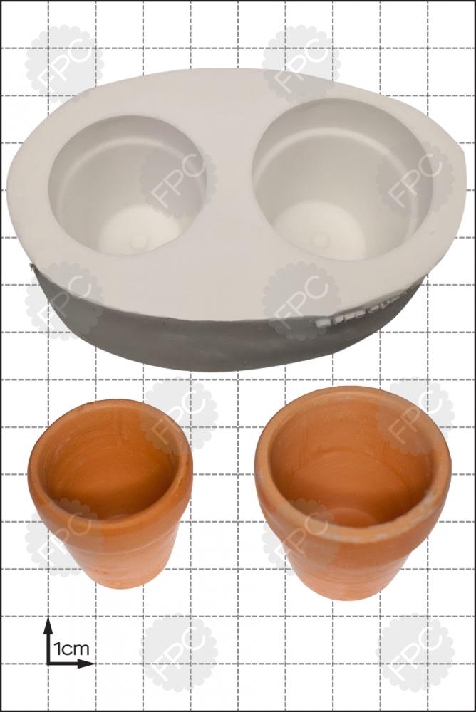 SALE!!! FPC Silicone Mould -3D Flower Pots -Καλούπι Τρισδιάστατες Γλάστρες για λουλούδια