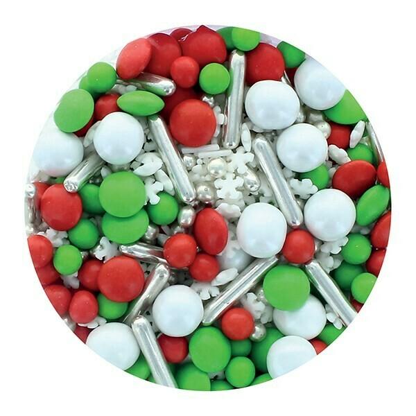 Purple Cupcakes Sprinkle Mix -ELF MIX -100γρ Μείγμα Ζαχαρωτών - Χειμερινό θέμα