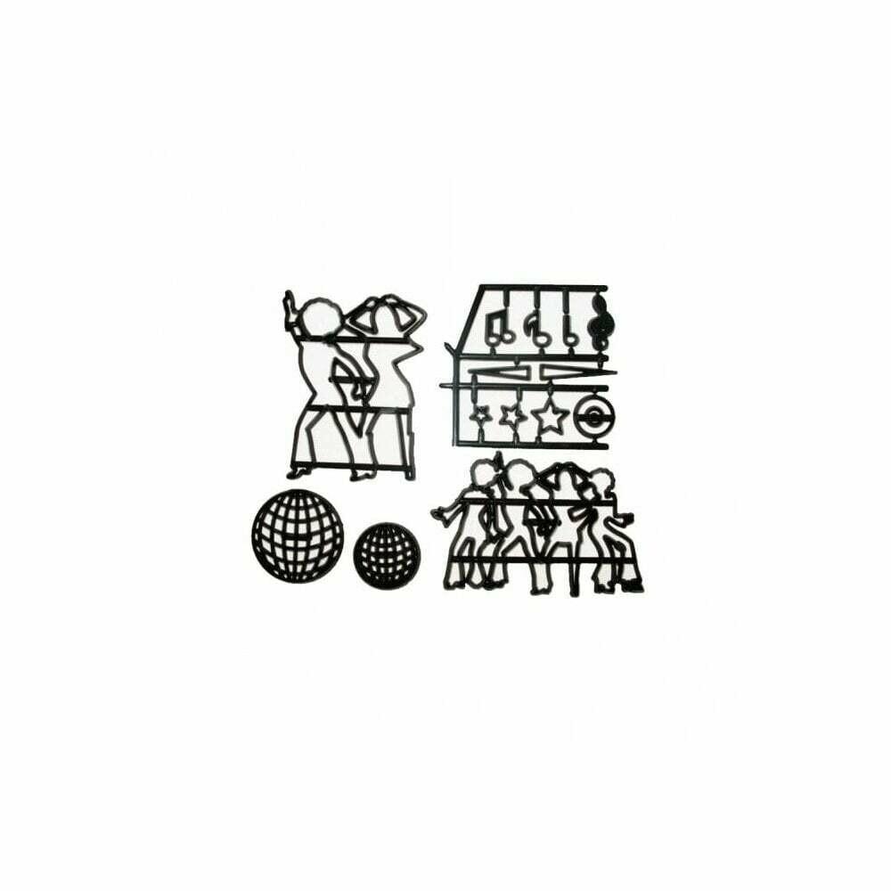 Patchwork Cutters -DISCO DANCERS -Κουπ πατ Χορευτές Ντίσκο