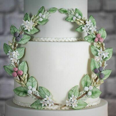 Karen Davies Silicone Mould -SUGAR TWINE-Καλούπι Σιλικόνης Στεφάνι από Λουλούδια