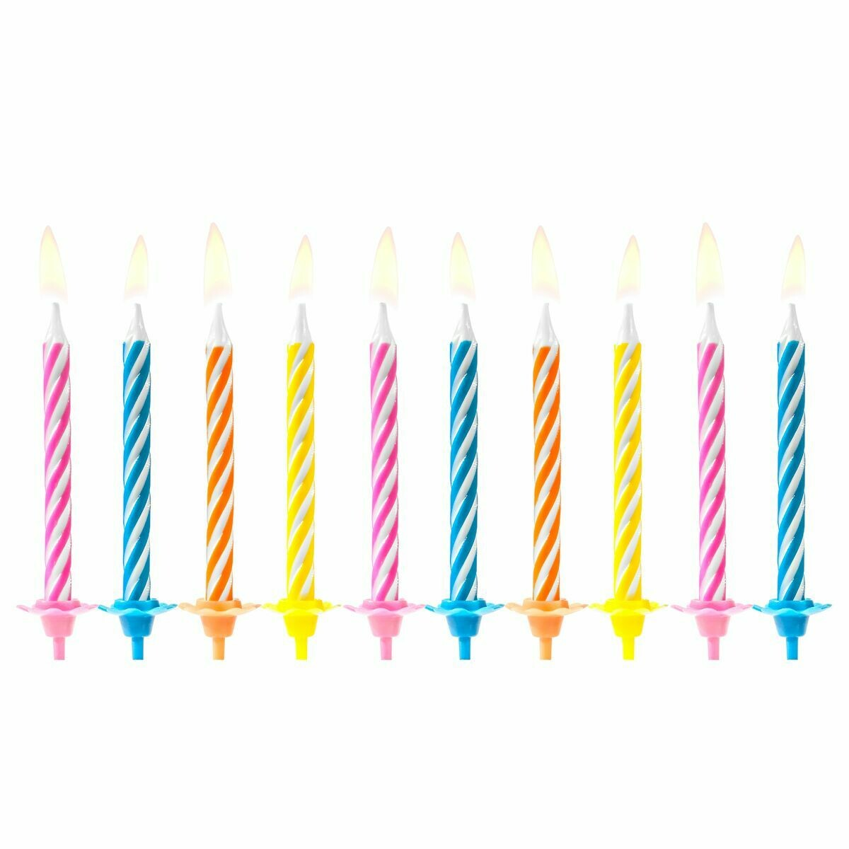 PartyDeco Birthday Candles -PARTY MIX 10 τεμ. - Κεράκια Πολύχρωμα