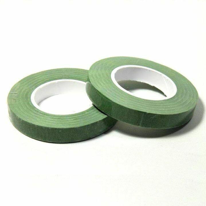Dekofee Floral Tape -MIDDLE GREEN 12mm -Κολλητική Ταινία Λουλουδιών -Μεσαίο Πράσινο
