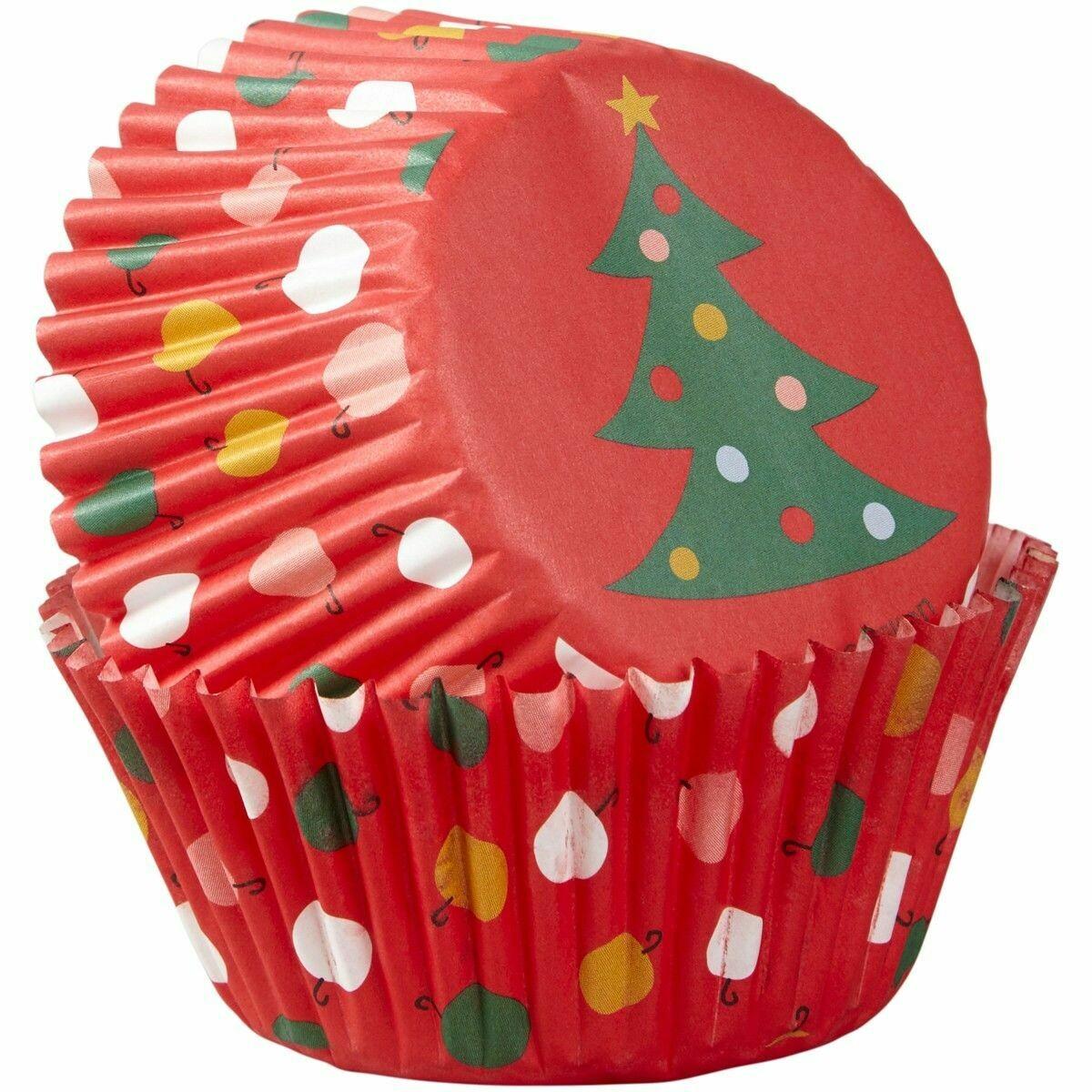 Wilton Christmas Cupcake Cases -TREE & ORNAMENTS -Θήκες ψησίματος Καπκέικ/Μάφιν χριστουγεννιάτικες 75 τεμ