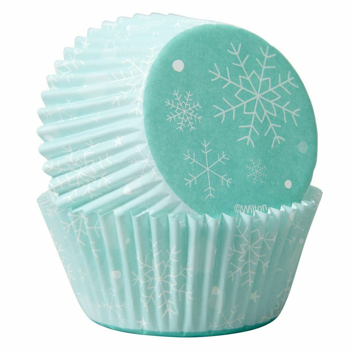 Wilton Christmas Cupcake Cases -FROZEN SNOWFLAKES -Θήκες ψησίματος Καπκέικ/Μάφιν με χιονονιφάδες 75 τεμ