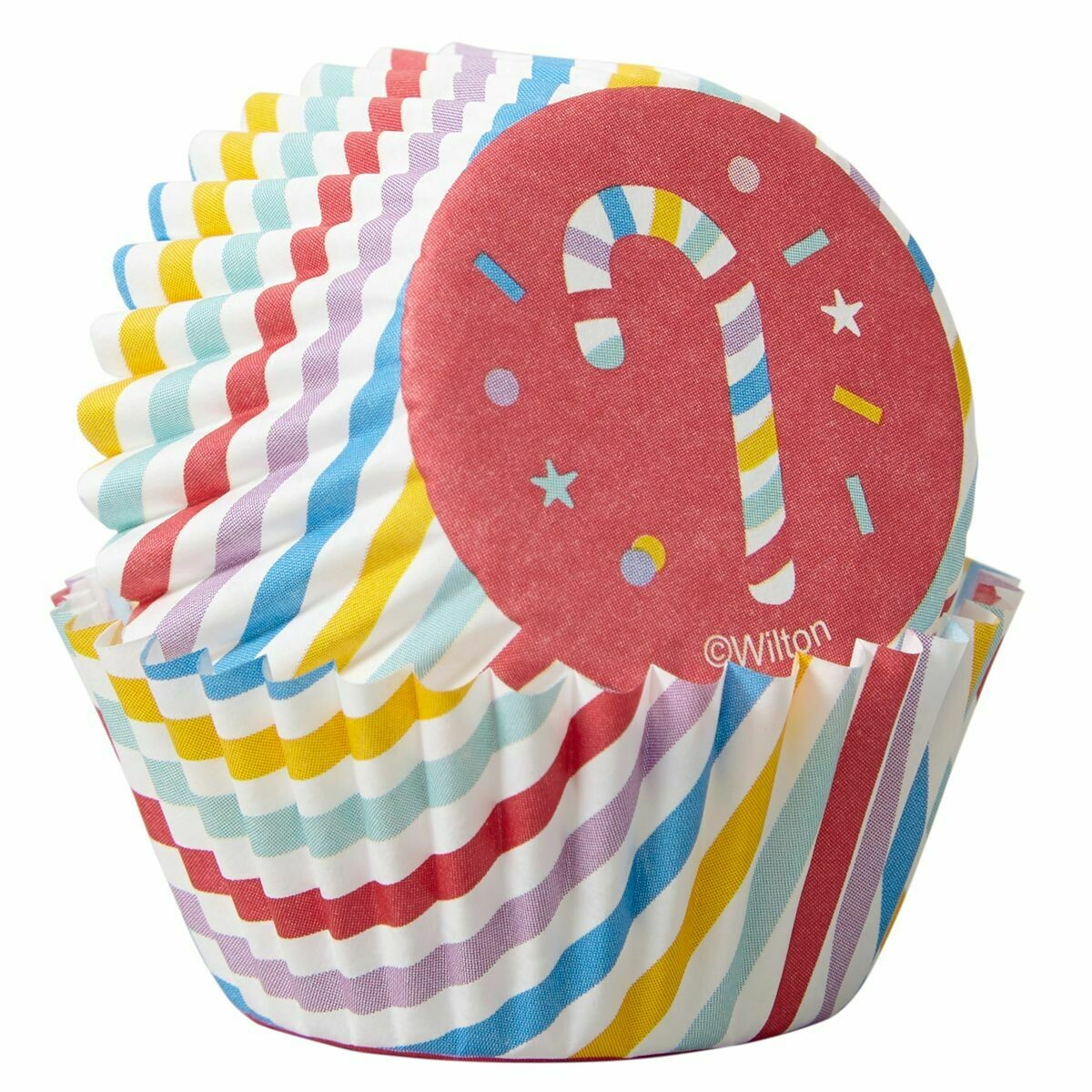 SALE!!! Wilton Christmas Cupcake Cases -MINI -CANDY CANES -Μίνι Θήκες ψησίματος Καπκέικ/Μάφιν 100τμχ