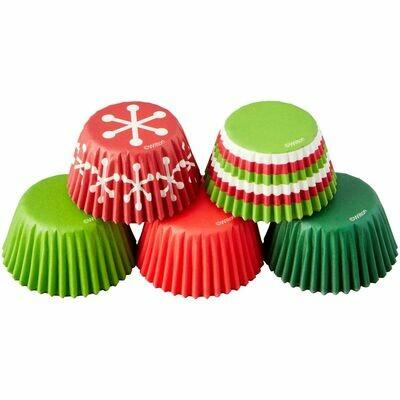 Wilton Christmas Cupcake Cases -MINI -CHRISTMAS MIX - Μίνι Θήκες ψησίματος Καπκέικ/Μάφιν 150τμχ με Χριστουγεννιάτικο Θέμα