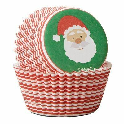 Wilton Christmas Cupcake Cases -MINI -SANTA CLAUS - Μίνι Θήκες ψησίματος Καπκέικ/Μάφιν 100τμχ - Άγιος Βασίλης