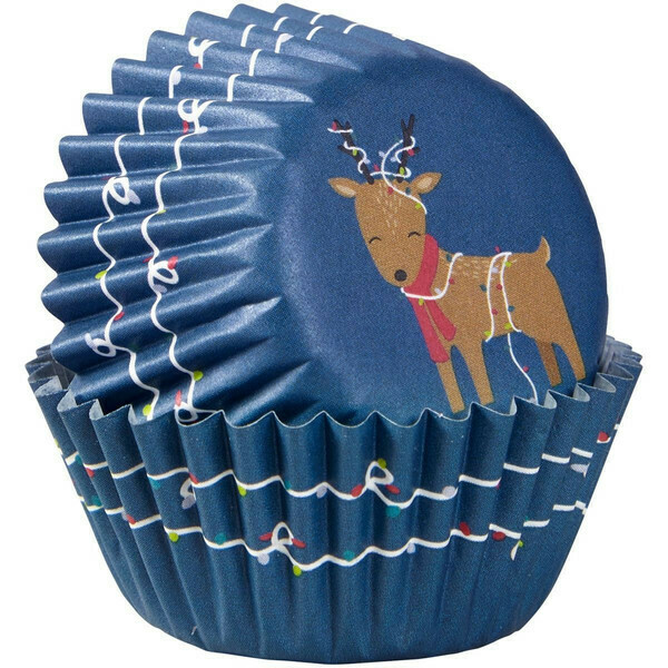 Wilton Christmas Cupcake Cases -MINI -REINDEER - Μίνι Θήκες ψησίματος Καπκέικ/Μάφιν 100τμχ Τάρανδος