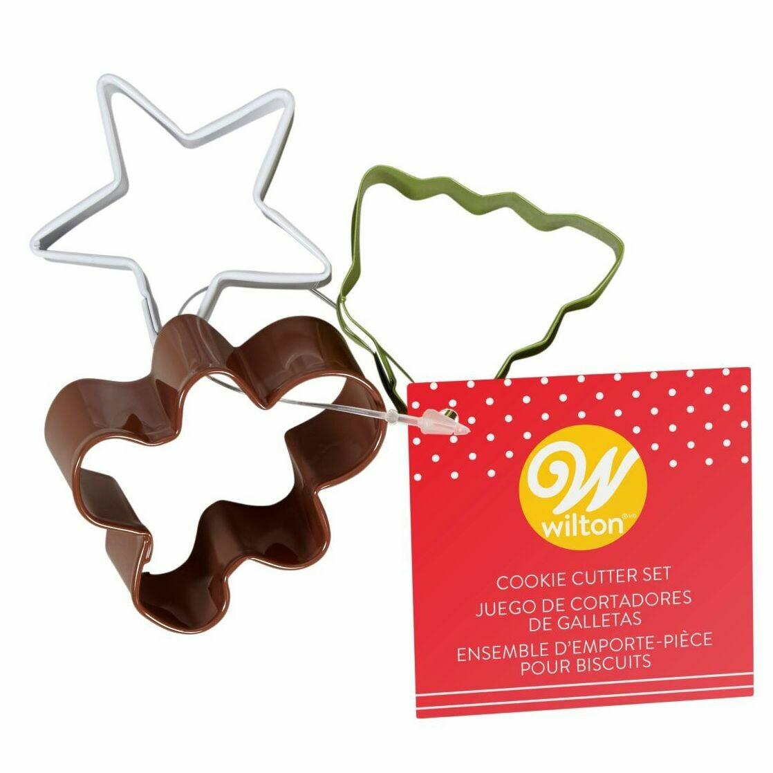 Wilton Christmas Cookie Cutter Set of 3 -MINI -Star, Tree, Gingerbread Man -  Σετ 3τεμ Χριστουγεννιάτικα Κουπ πατ